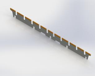 Manroland Jaw blade - 510mm x 38mm x 2.5mm