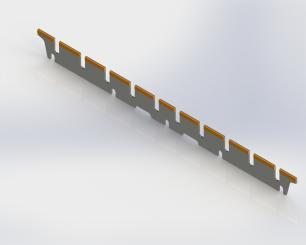 Manroland Jaw blade - 509mm x 39mm x 2.5mm