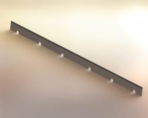 Manroland sawtooth cutting knife - 530mm x 30mm x 1mm