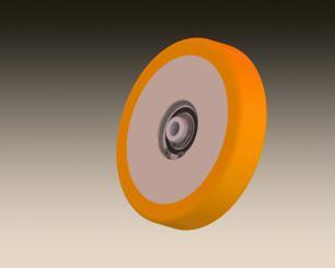 Manroland tension roller - 125mm x 100mm x 40mm
